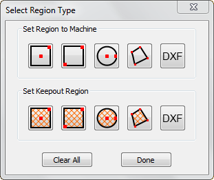New Set Machine Region Window